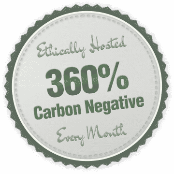 carbon negative hosting